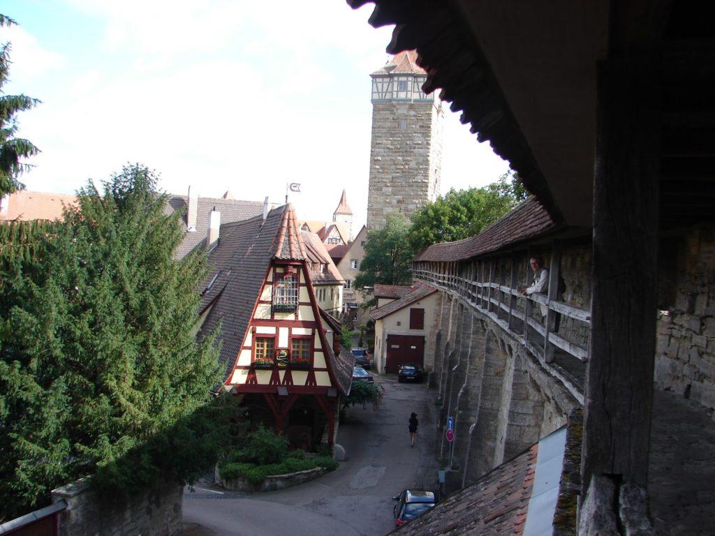 A muralla cuberta de Rothenburg (foto XMLS)