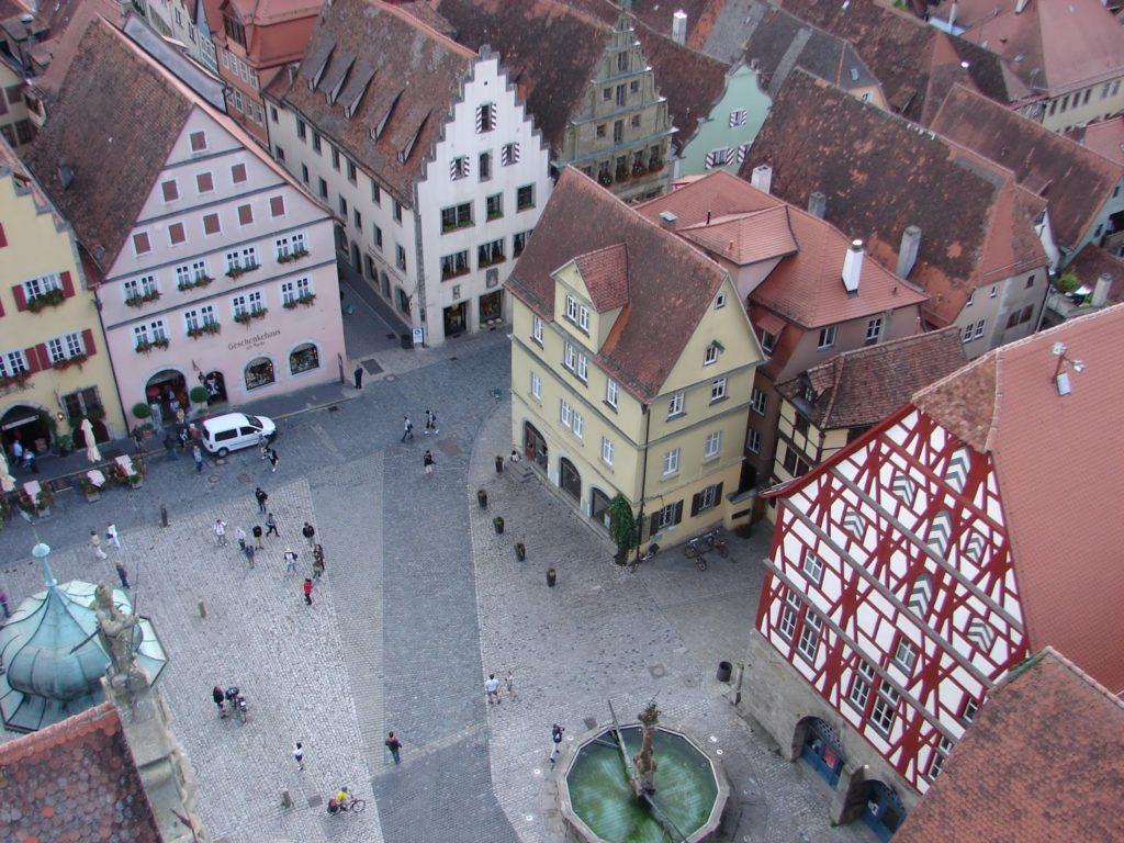 A Marktplatz desde a torre da Casa do Concello (XMLS)