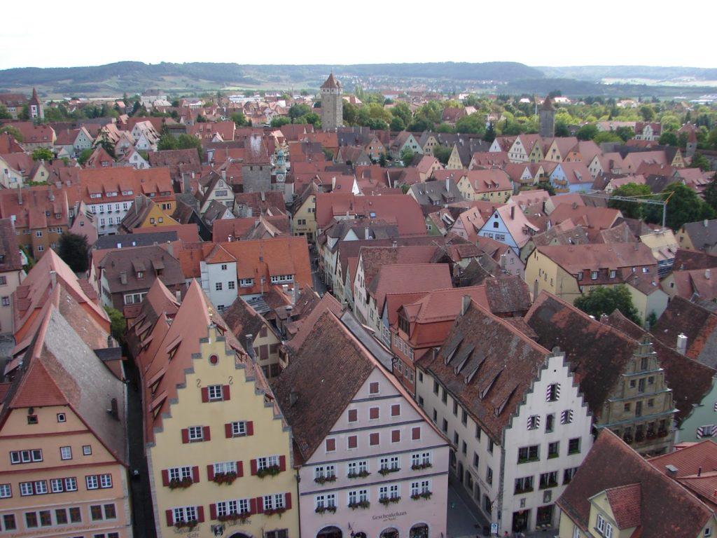 Vista parcial de Rothenburg desde a torre branca do Concello (XMLS)