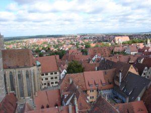 A cidade antiga e a nova (ó fondo) de Rothenburg (XMLS)