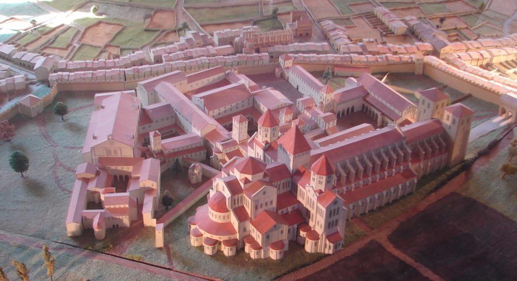 Maqueta do que foi a abadía de Cluny