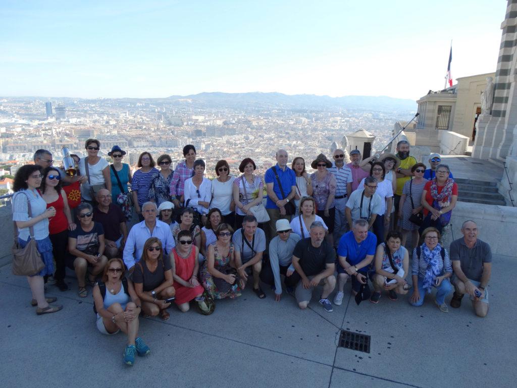 Foto de grupo na Basílica de la Garde (Marsella)
