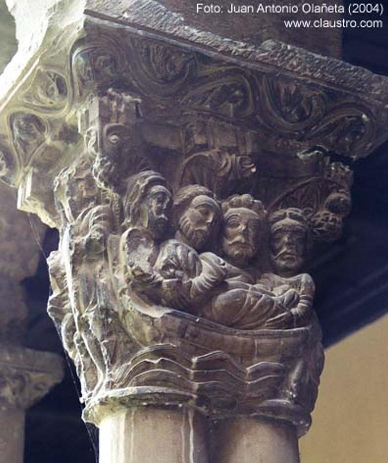 O capitel da catedral de Tudela (foto J. A. Olañeta, www.claustro.com)